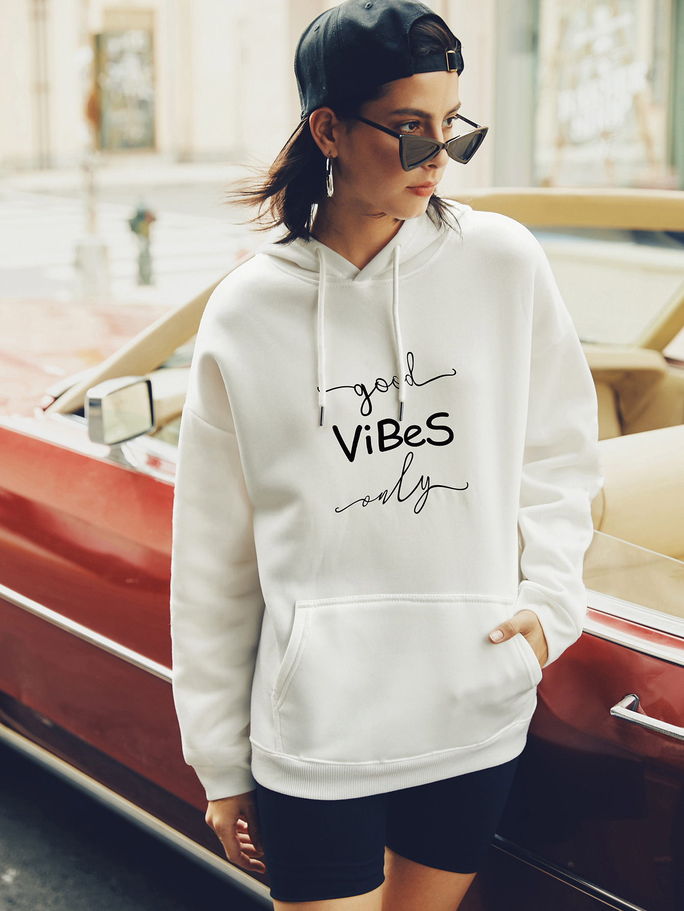 casual hooded sweater letter printing hoodies for women NSSN1740