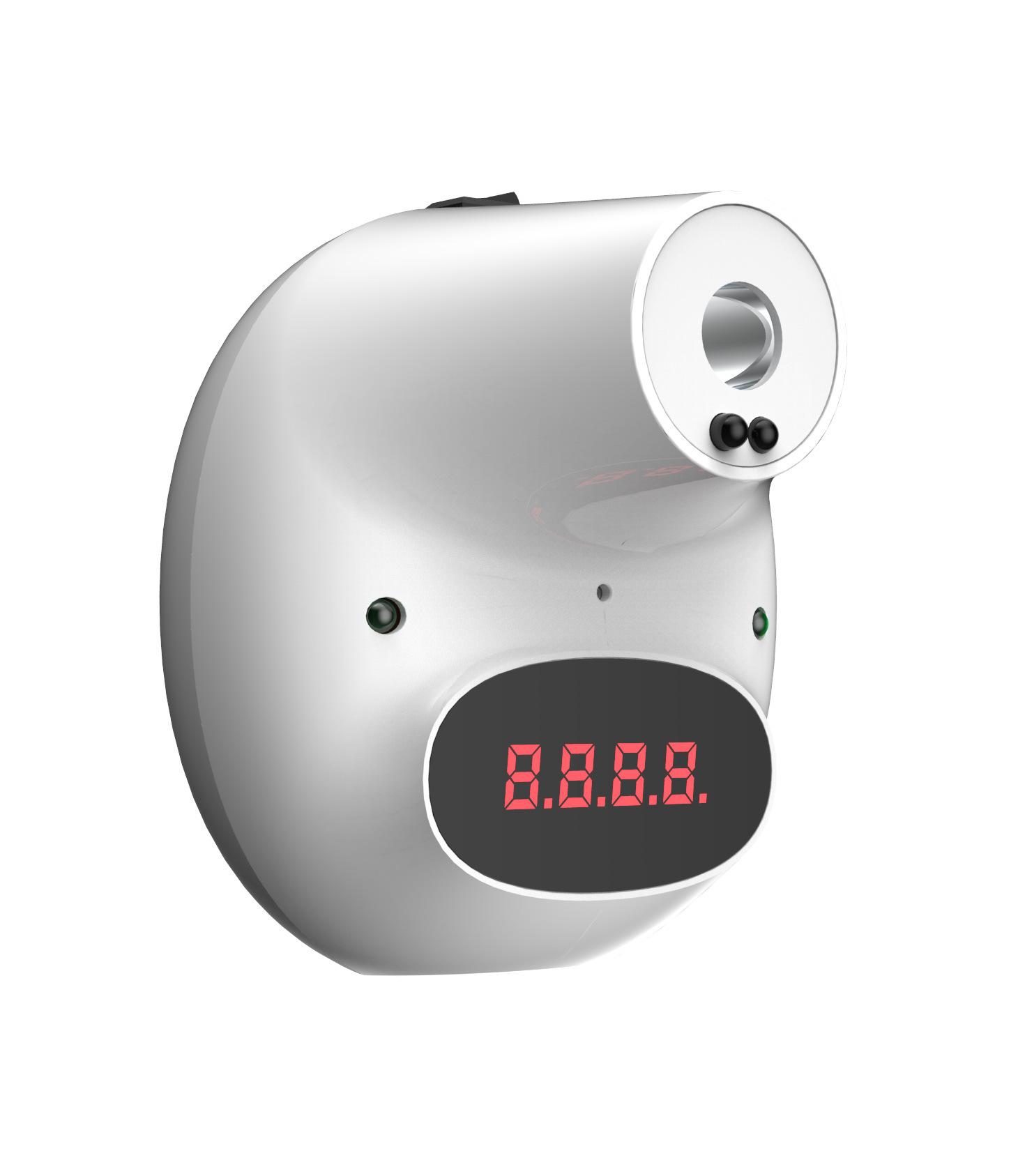 红外线测温仪挂壁式自动测温仪电子体温计感应额温枪智能温枪度