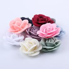 凯轩装饰花厂家大量现货娟布花布艺花皮革花爆款配件花支持订做