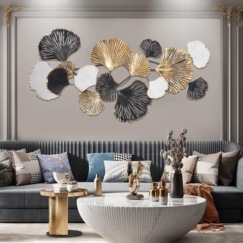 北欧家居墙壁挂饰 立体客厅背景墙装饰壁挂创意金属艺术挂件批发