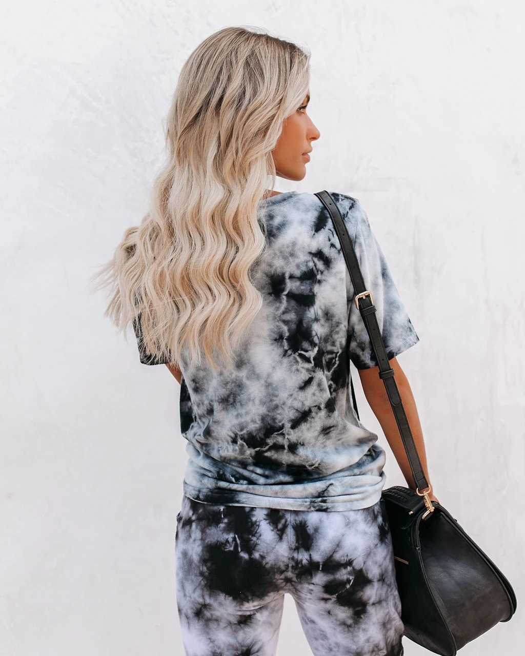 new  two-piece tie-dye printed short-sleeved trousers suit NHYF243933
