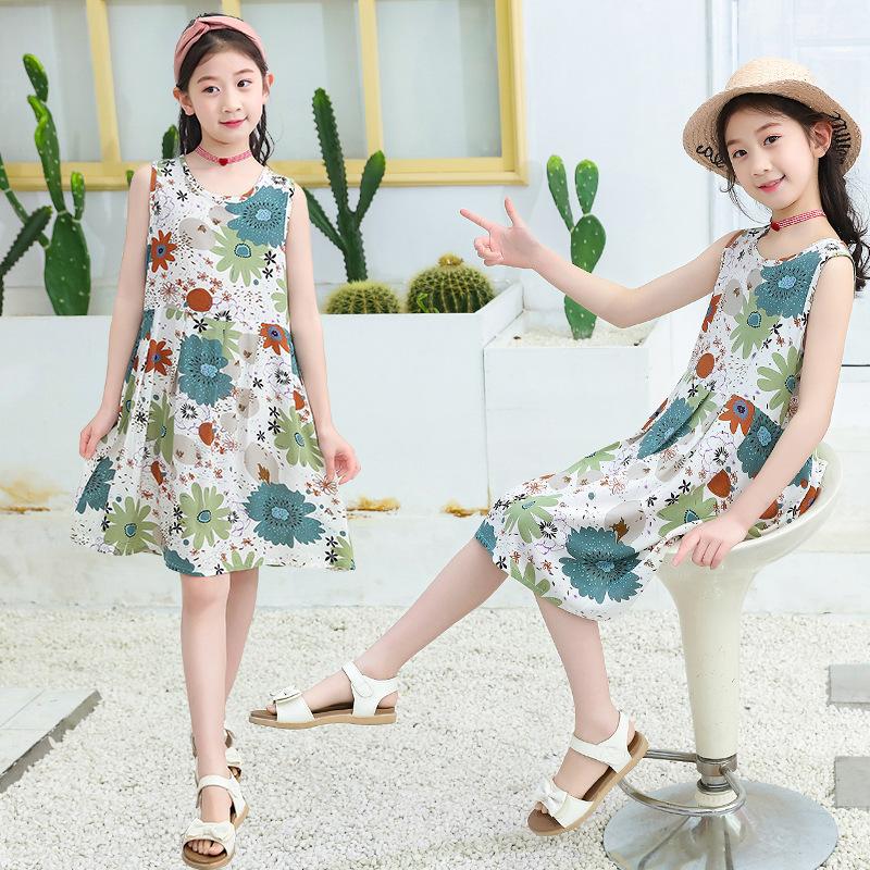 2020夏季新款女童连衣裙纯棉/绵绸面料不起球不褪色一件代发/批发