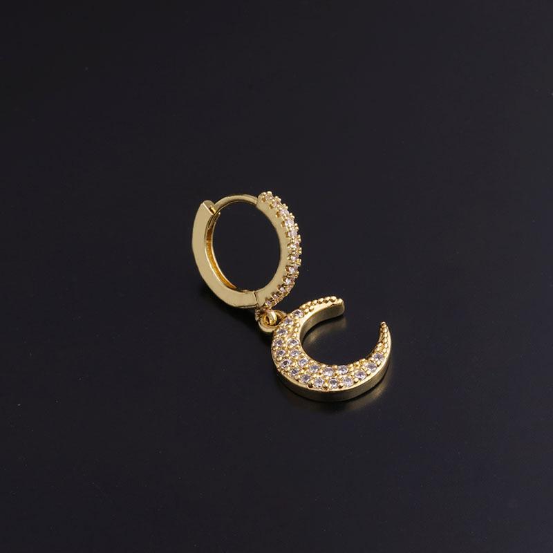 fashion inlaid zircon earrings NHEN283626
