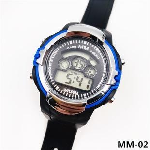 Hot selling student sports watch MM-02 waterproof watch LED colorful light watch hot selling watch