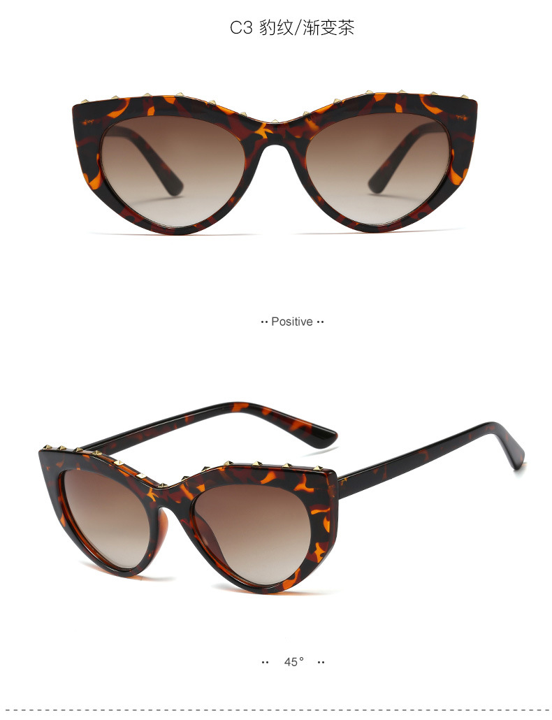 New fashion small frame sunglasses ladies studded sunglasses NHFY203887
