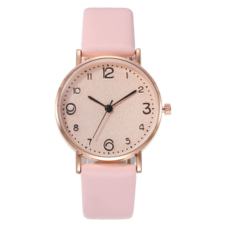 Simple Digital Face Ultra-thin Shell Alloy Belt Watch Multi-color Face And Ribbon Fashion Ladies Watch Quartz Watch