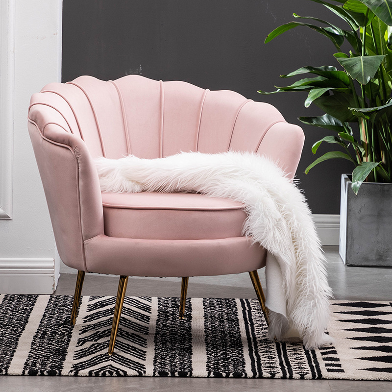 1小户型网红轻奢单人沙发北欧现代简约客厅卧室服装店沙发双人沙1