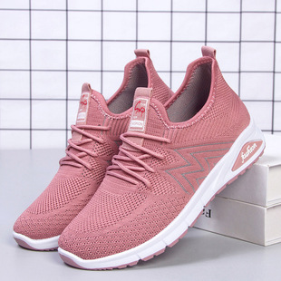 Shoes women 2021 spring new cross-border foreign trade women's shoes shoes casual flying woven shoes breathable sports shoes women