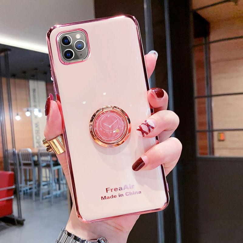 适用iphone12手机壳硅胶6D电镀78XSmax苹果11保护套12Pro男女肤感