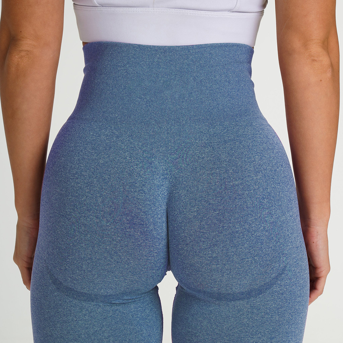 European And American Hot Selling Seamless Knitted Hip Lifting Moisture Absorption And Sweat Wicking Yoga Pants Exercise Fitness Pants Sexy Hip Women Leggings