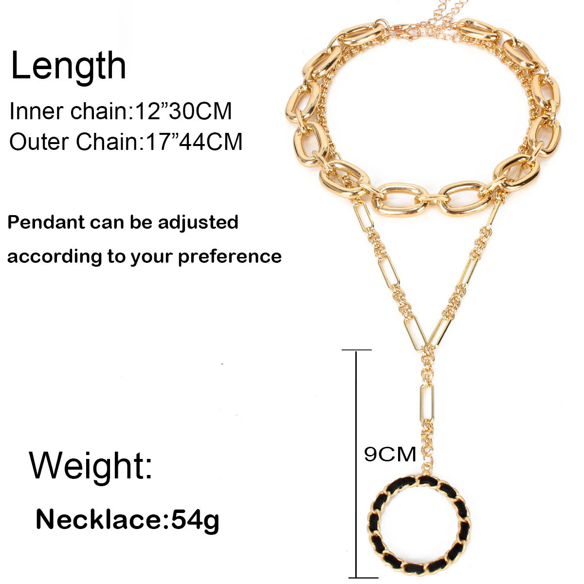 fashion necklace round pendant singlelayer round ball clavicle necklace jewelry nihaojewelry wholesale NHCT215318