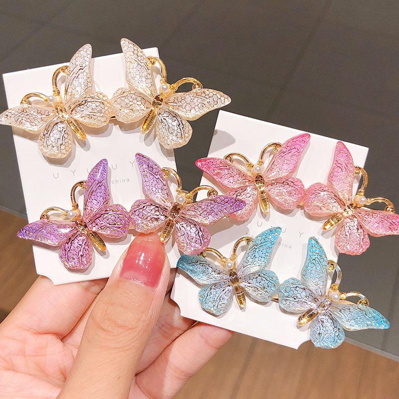 South Korea's new oil drop butterfly hairpin duckbill clip headdress girl hairpin hair accessories wholesale nihaojewelry NHNA229623