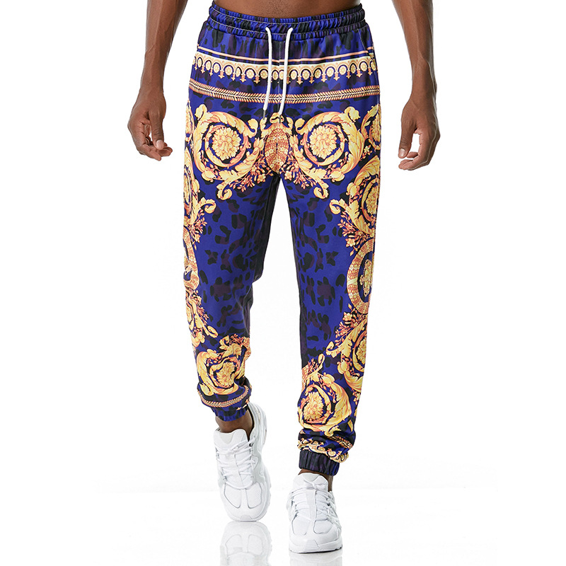 Men Women 3D European Court Style Retro Print Jog Casual Sports Pants