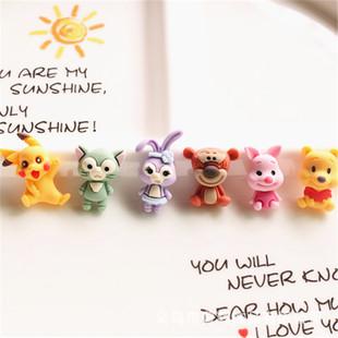 Children's hair tie hairpin diy handmade jewelry material cartoon animal bear purple rabbit tiger resin accessories