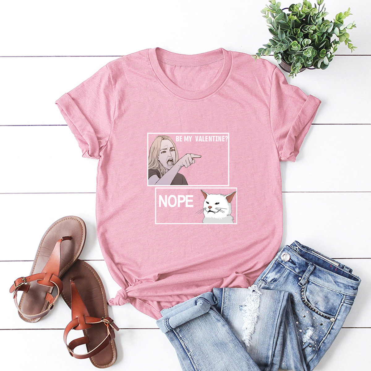 hot Slim Comfortable Casual Large Size Short Sleeve Women's T-shirt NSSN875