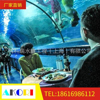 大型亚克力水族箱,水族馆生态鱼缸,有机玻璃海底隧道表演缸