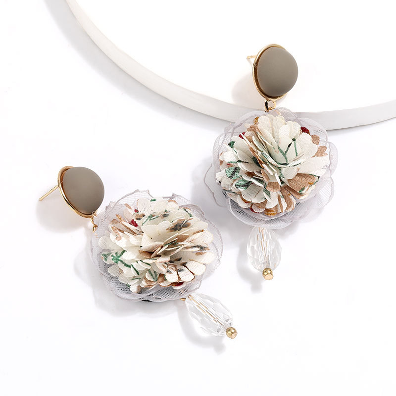 New Cloth Floral Korean Earrings for women Earrings NHJE205092