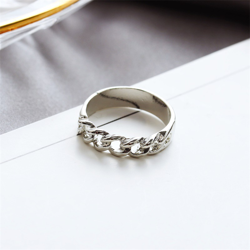Korean fashion jewelry chain empty ring wholesale nihaojewelry NHDP201333