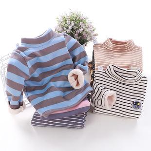 Ребенок с пух минимума рубашка новинка зимний осеннний утолщённый сохраняющий тепло ребенок t футболки девочки средней высоты воротник теплый куртка ребятишки