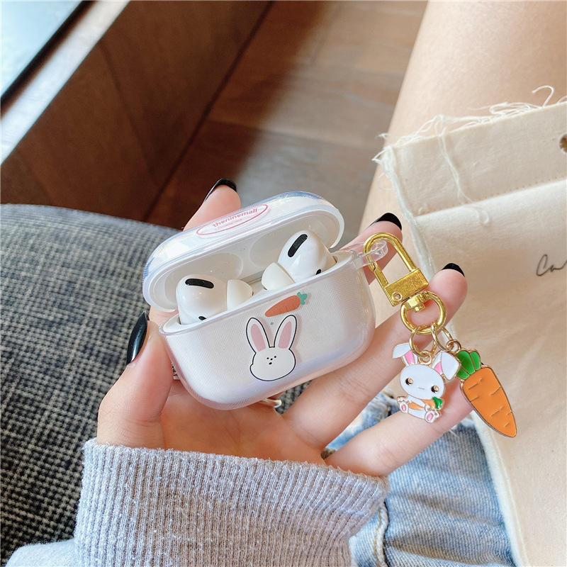 Cartoon carrot rabbit soft shell suitable for AirpodsPro wireless Bluetooth headset wholesale NHFI256842
