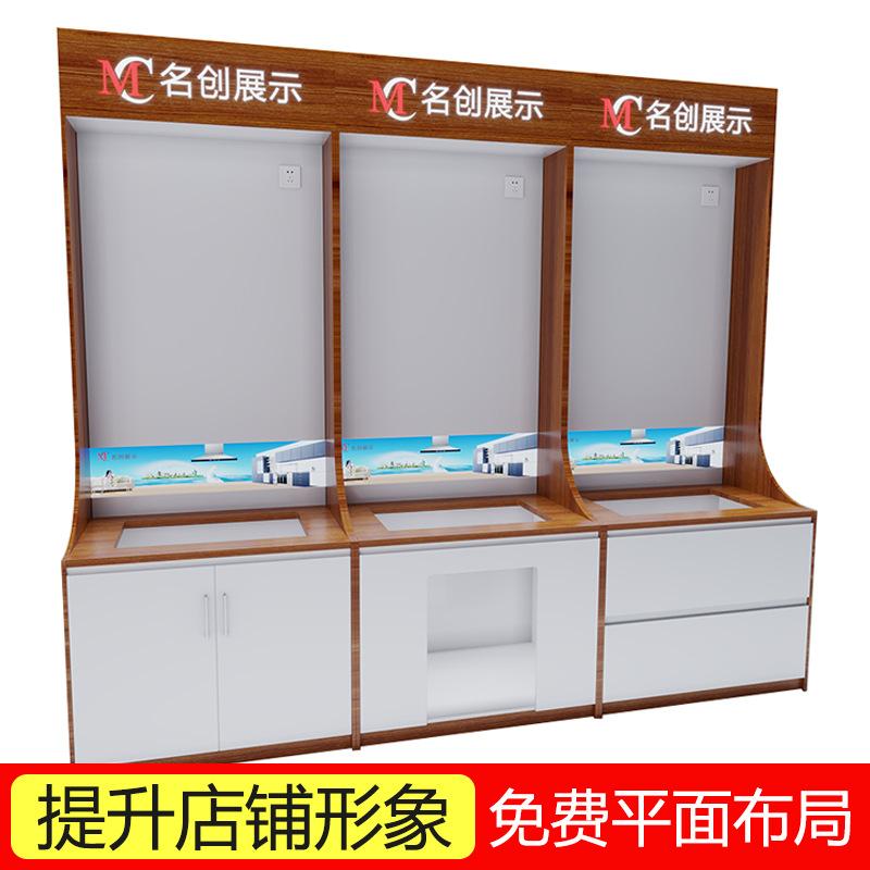 厂家定制厨卫电器展示柜独立不靠墙木质展柜油烟机灶具消毒柜展架