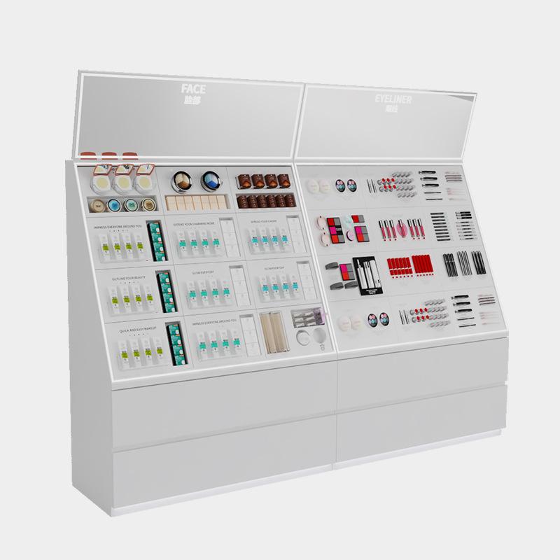大沣定制彩妆柜化妆品货架护肤品展示柜