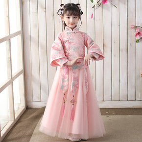 Girl fairy Hanfu Ru skirt children's ancient Tang dress girl fairy ancient child princess  fairy drama cosplay dresses