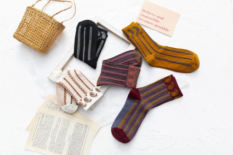 women's autumn and winter new tube socks street floral socks NSFN4091