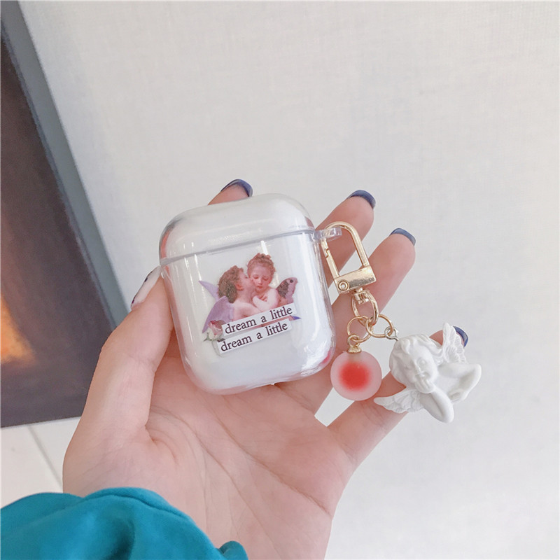 Cartoon Cupid Angel soft shell for AirpodsPro wireless Bluetooth headset wholesale nihaojewelry NHFI245056
