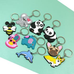 PVC keychain pendant custom cartoon animation advertising LOGO gift cute ins jewelry doll accessories animal
