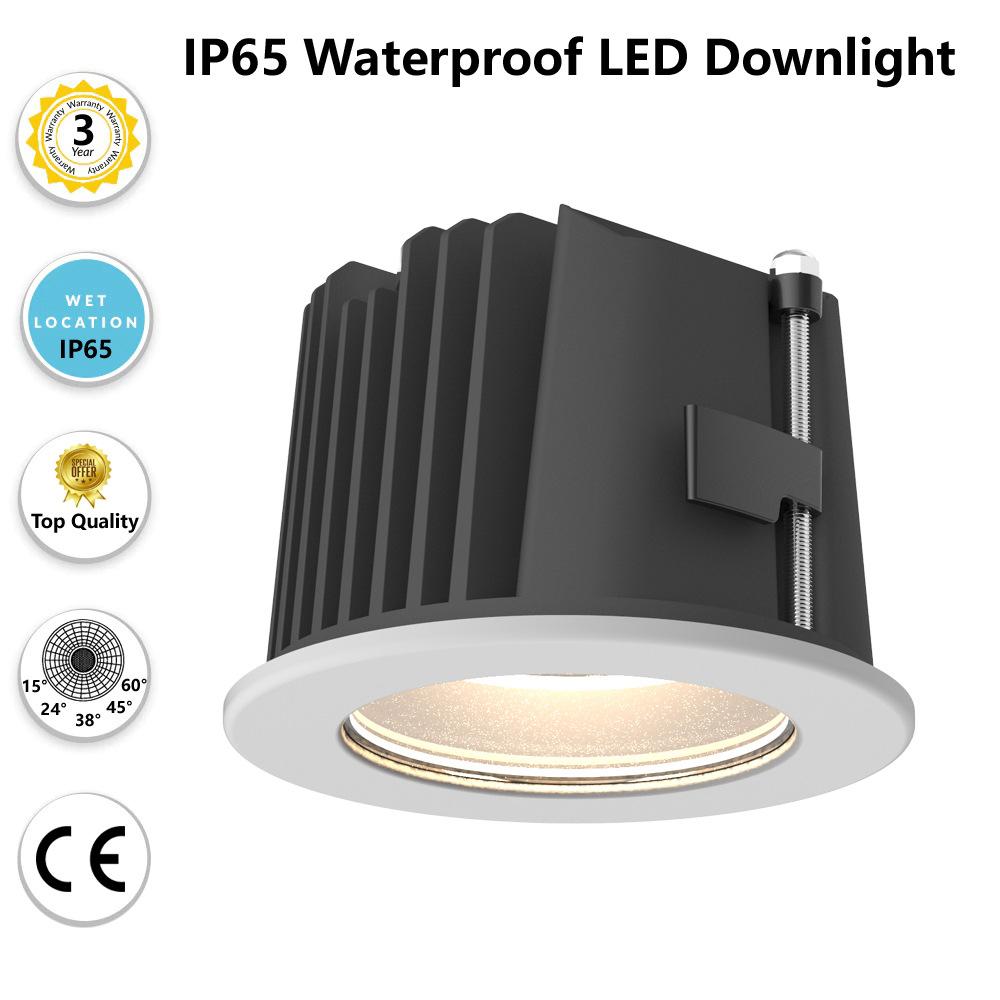 高端设计 IP65防水 户外可用 嵌入式COB LED筒灯 25W LED天花射灯