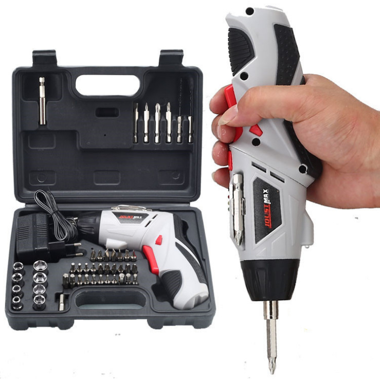 45-piece electric drill set 4.8V electric screwdriver set, multi-function rechargeable hand drill tool box set-Alibaba