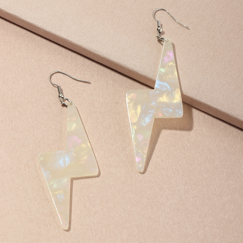 new fashion  transparent fluorescent color lightning  fun earrings  wholesale  NHNZ240248