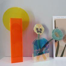 轻奢设计师款现代简约风花瓶客厅亚克力花器摆件北欧家居软装饰品