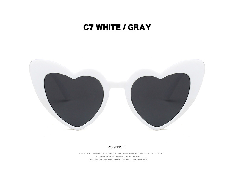 fashion sexy hot selling love sunglasses  new wave fashion peach heart big frame personality sunglasses heart-shaped sunglasses NHKD222809