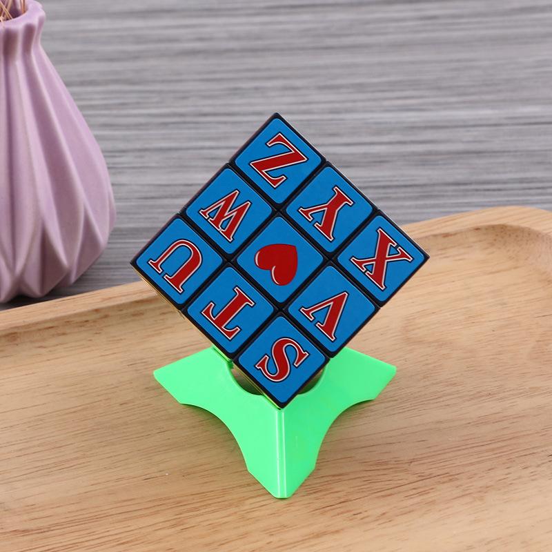 儿童玩具数字三阶魔方 8.4*8.4*8.4cm数字智力魔方 现货批发