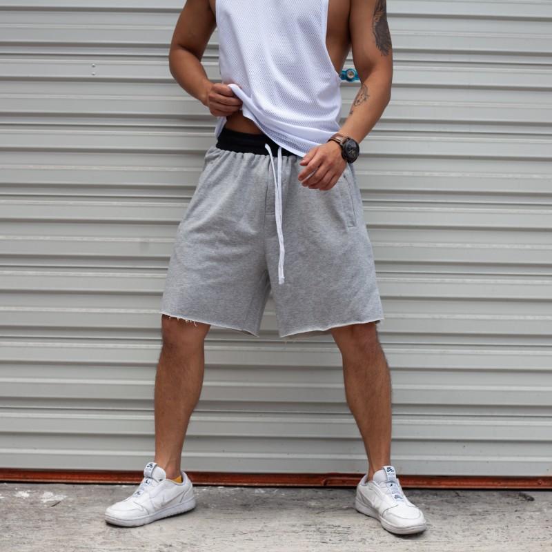 2020年夏季薄款休闲短裤男潮宽松纯棉裤子篮球运动裤五分灰色卫裤