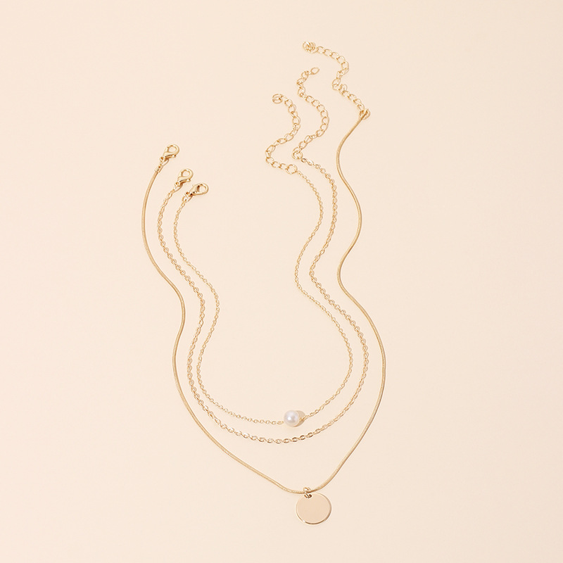 Hot selling fashion multilayer pearl womens necklace   NHRN260408