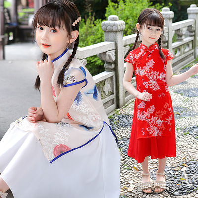 Hanfu children Chinese Dress Qipao skirt girl children Chinese Dress country dress girl show dress big children Chinese Dress skirt