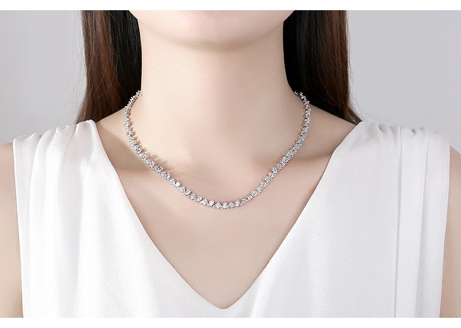 Moda nupcial zirron collar de cobre accesorios de boda joyería al por mayor nihaojewelry NHTM226247