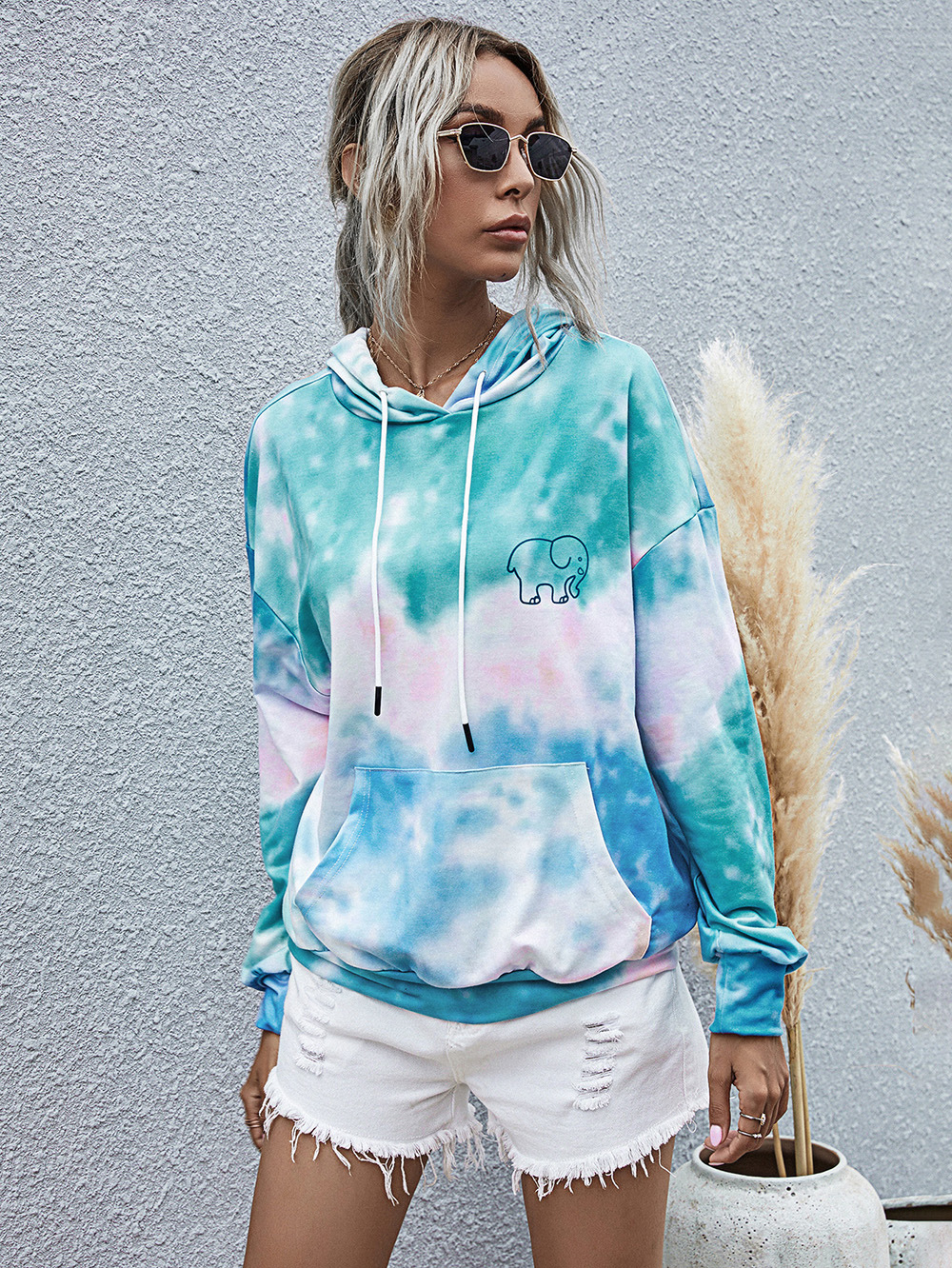 casual sports hipster hooded pullover sweater top  NSDF1984