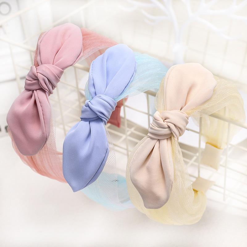 Korean new fashion lace knotted bow tie headband cheap headband wholesale NHDM207766