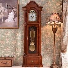 落地鐘客廳中式復古歐式座鐘立式現代實木報時純銅重錘別墅機械鐘