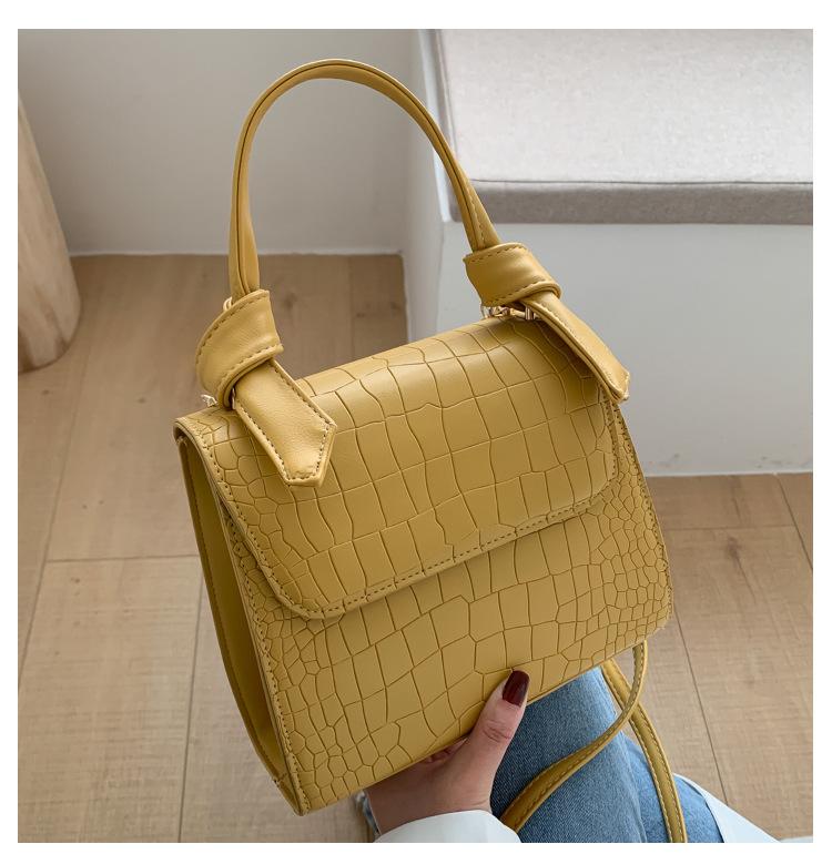 new Korean fashion trendy wild  crocodile pattern messenger handbag NHRU265902