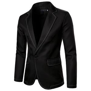Men's jazz performance suit blazers groomsmen jacket  Men's Western Pure Line Design suit
