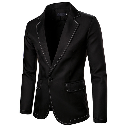 Men's jazz performance suit blazers groomsmen jacket  Men's Western Pure Line Design suit
