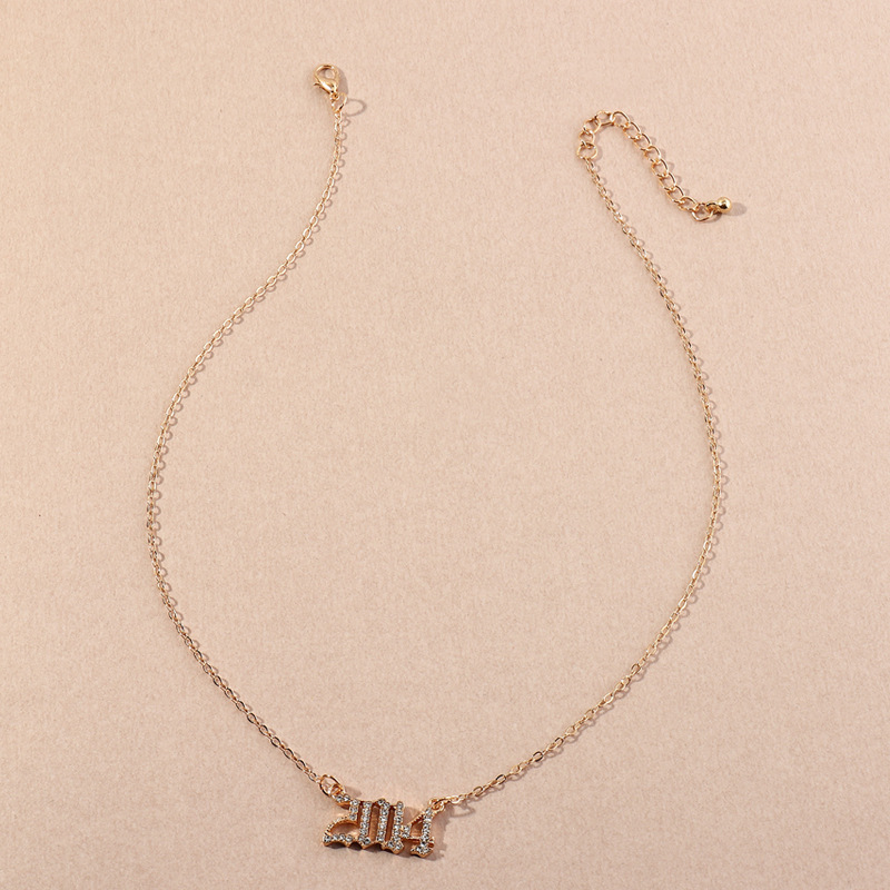 Fashion  Birthday Number  Necklace  NHNZ281133