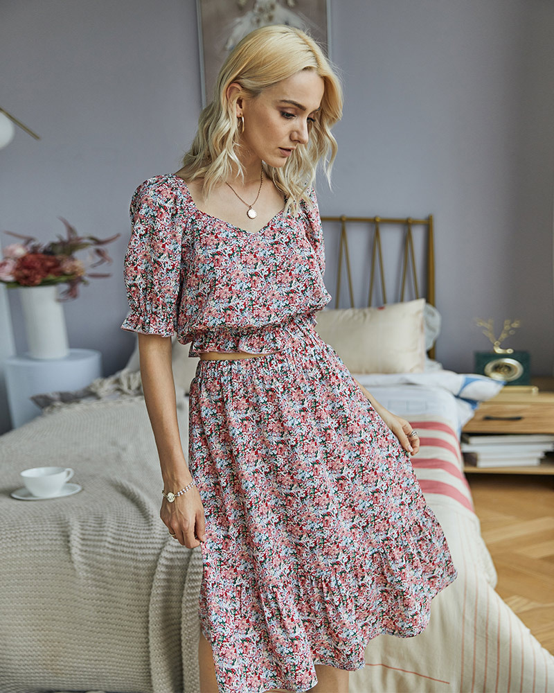 Original design women's suits stand-alone summer new ladies floral suit wholesale nihaojewelry NHKA232566