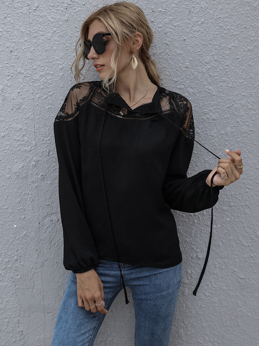 autumn casual urban casual polyester pullover round neck loose women's T-shirt NSAL2081