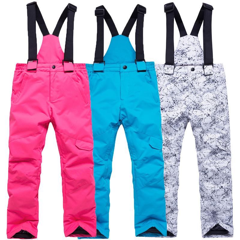 新款滑雪裤男童女童户外运动保暖雪服儿童款裤子潮